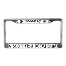 Owned by a Scottish Deerhound License Plate Frame