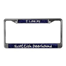 Funky Love Scottish Deerhound License Plate Frame