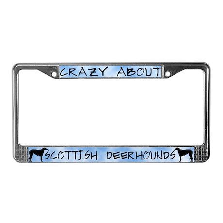 Crazy About Scottish Deerhound License Plate Frame