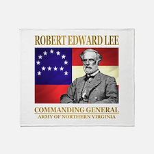 Robert E Lee Throw Blanket