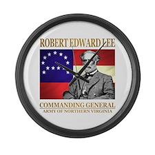 Robert E Lee Large Wall Clock