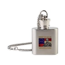 Robert E Lee Flask Necklace