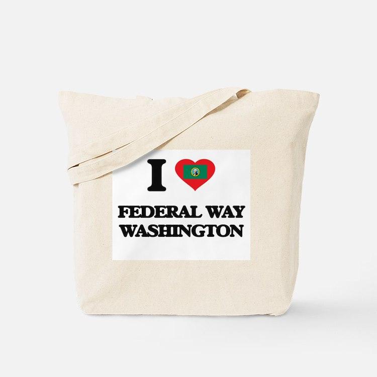 I love Federal Way Washington Tote Bag