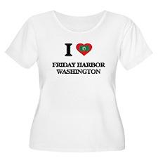 I love Friday Harbor Washington Plus Size T-Shirt