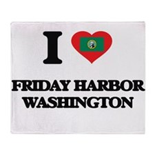 I love Friday Harbor Washington Throw Blanket