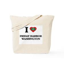 I love Friday Harbor Washington Tote Bag