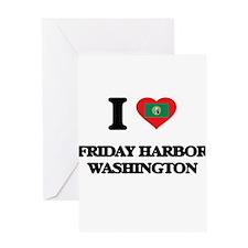 I love Friday Harbor Washington Greeting Cards