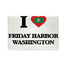 I love Friday Harbor Washington Magnets