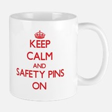 Keep Calm and Safety Pins ON Mugs