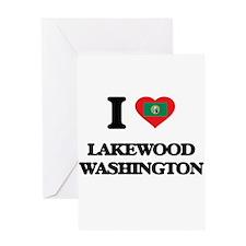 I love Lakewood Washington Greeting Cards