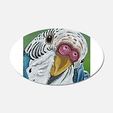 Budgie Parakeet Decal Wall Sticker