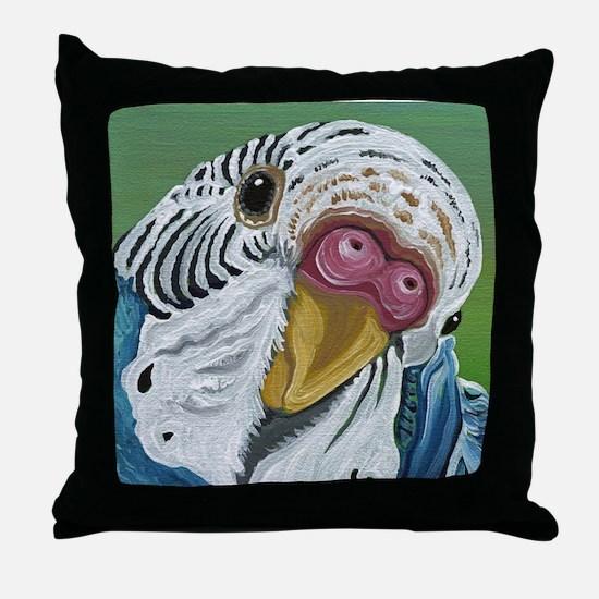Budgie Parakeet Throw Pillow