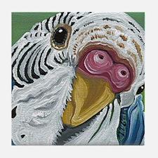 Budgie Parakeet Tile Coaster