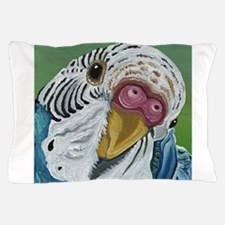 Budgie Parakeet Pillow Case