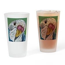 Budgie Parakeet Drinking Glass