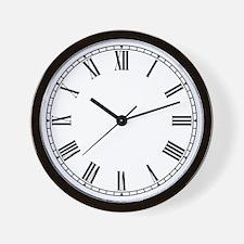 Cute Roman numerals Wall Clock