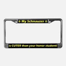 Honor Student Schnauzer License Plate Frame