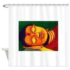 Resting his eyes Shower Curtain