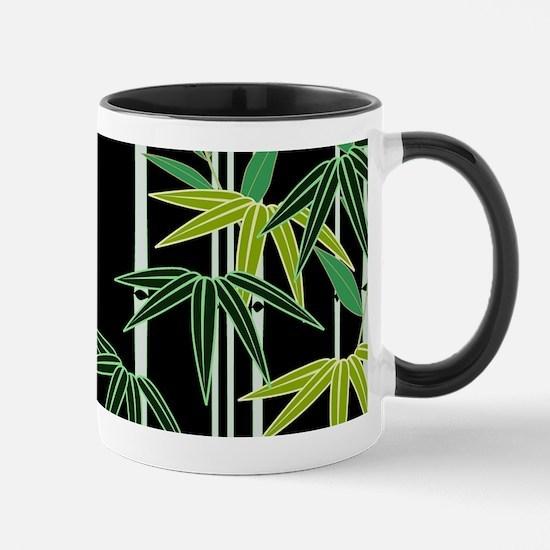 Bamboo on Black Mug