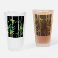 Bamboo on Black Drinking Glass