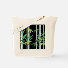 Bamboo on Black Tote Bag