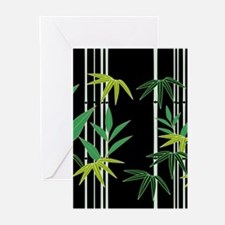 Bamboo on Black Greeting Cards (Pk of 20)