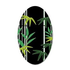 Bamboo on Black Wall Decal