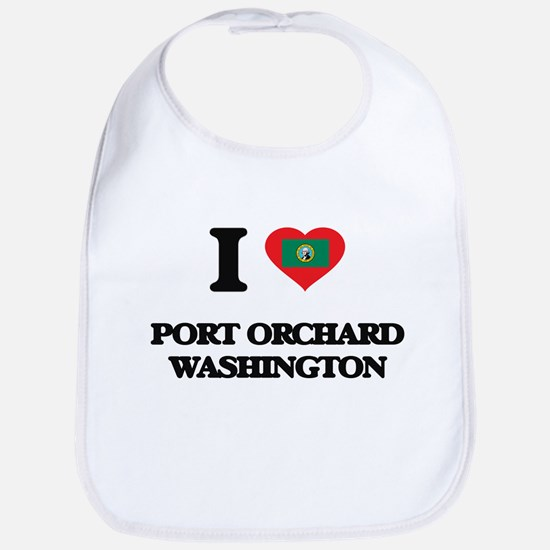 I love Port Orchard Washington Bib
