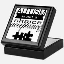 Autism is not a Choice, Acceptance is. Keepsake Bo