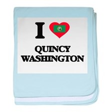 I love Quincy Washington baby blanket