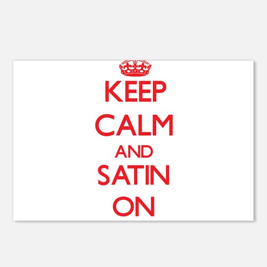 Keep Calm and Satin ON Postcards (Package of 8)