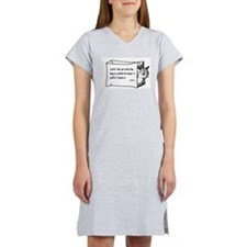 LETTING THE CAT OUT OF THE BAG Women's Nightshirt