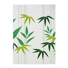 Bamboo (White) 5'x7'Area Rug