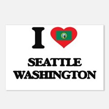 I love Seattle Washington Postcards (Package of 8)
