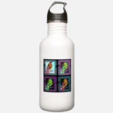 Tiled Birds Water Bottle
