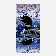 Blue Onion Loon Beach Towel