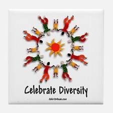 DIVERSITY PEOPLE Tile Coaster