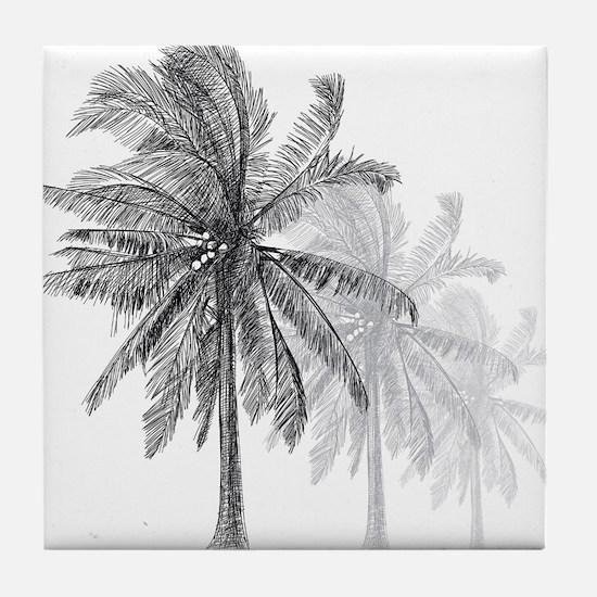 Palm Trees Tile Coaster