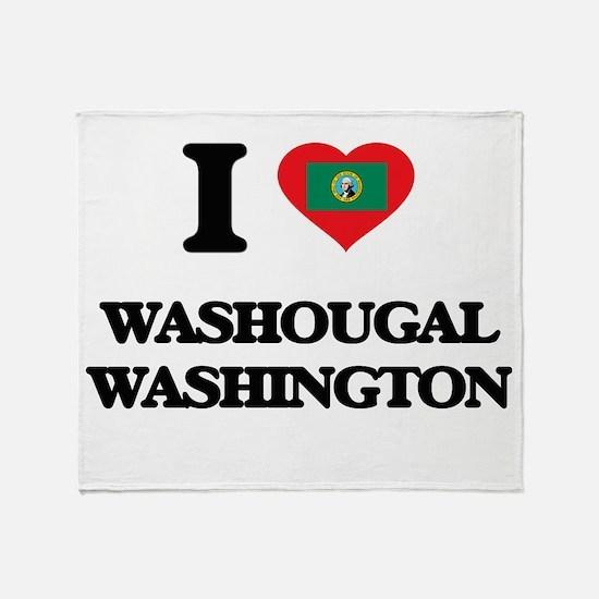 I love Washougal Washington Throw Blanket