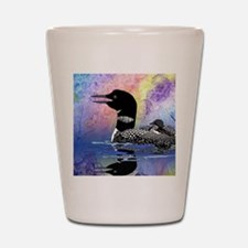 Loon on a lake Shot Glass