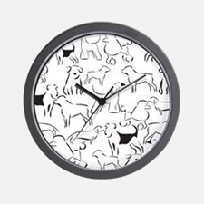 Dog Crazy! Black n White. Wall Clock