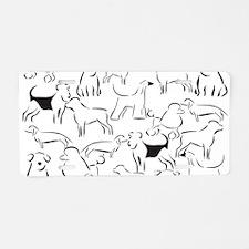 Dog Crazy! Black n White. Aluminum License Plate