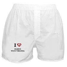I love Elkins West Virginia Boxer Shorts