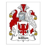 Milton Family Crest Small Poster
