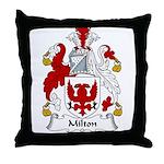 Milton Family Crest Throw Pillow