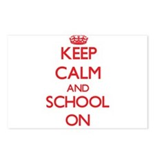 Keep Calm and School ON Postcards (Package of 8)