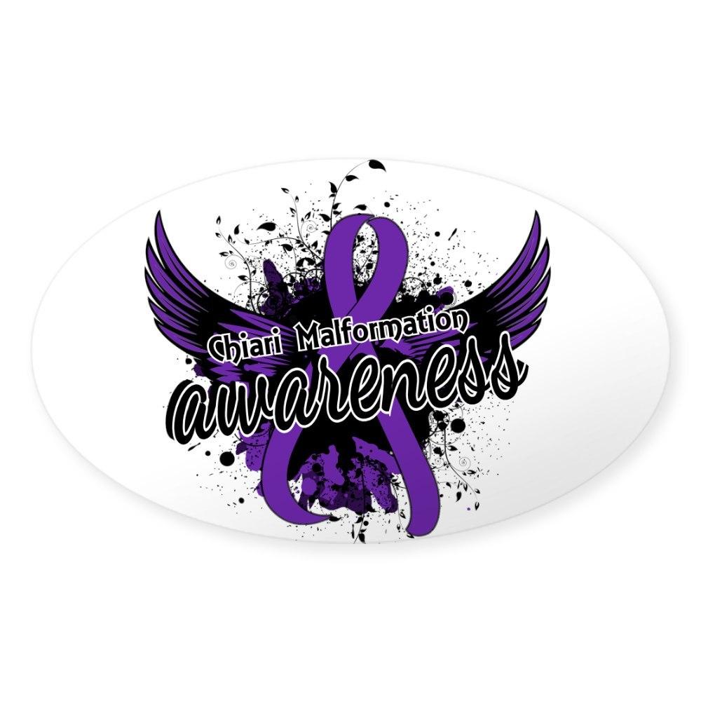 1563575218 Oval CafePress Chiari Awareness 16 Sticker