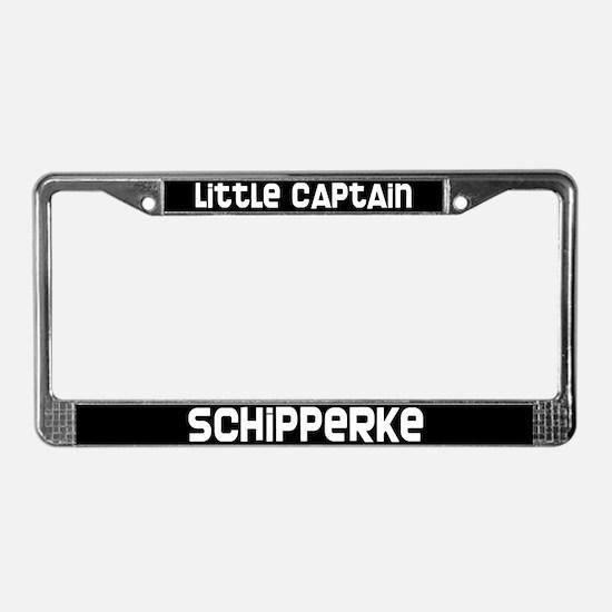 Little Captain Schipperke License Plate Frame
