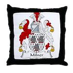 Milner Family Crest Throw Pillow