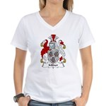 Milner Family Crest  Women's V-Neck T-Shirt